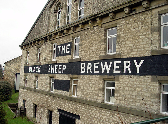 Black Sheep brouwerij, Masham, North Yorkshire, Engeland.